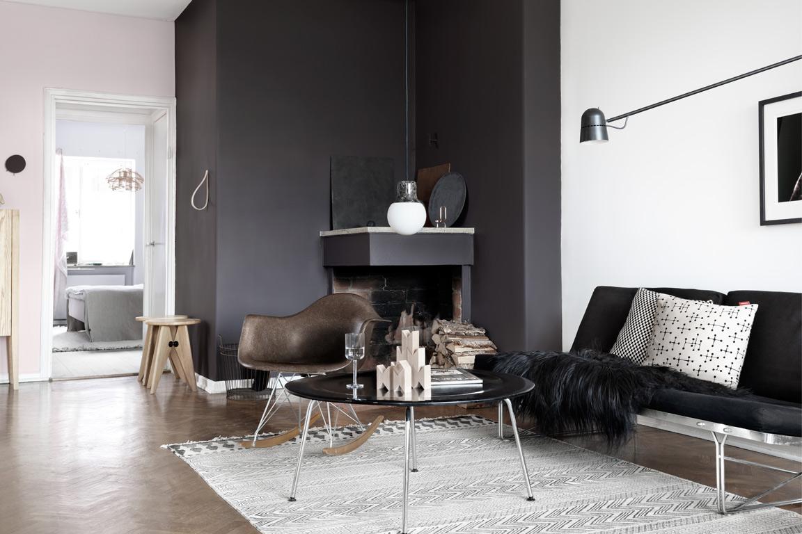 Mannelijke woonkamer scandinavisch